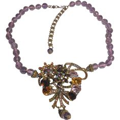 "Unsigned Heidi Daus Crystal-Accented Necklace – 19"" + from musibows on Ruby Lane"