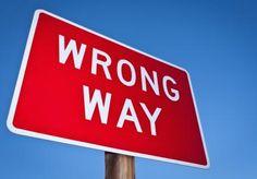 wrong way sign - Dan Brownsword/Cultura/Getty Images