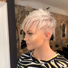 best short hairstyles for women over 50 - Pixie Cut Hairstyle Undercut Hairstyles Women, Short Hair Undercut, Short Pixie Haircuts, Haircut For Thick Hair, Girl Haircuts, Short Hairstyles For Women, Modern Hairstyles, Really Short Hairstyles, Pixie Mohawk