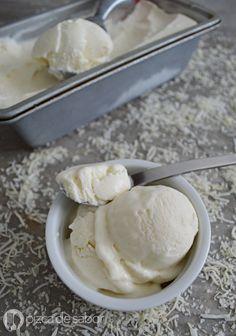 Helado de coco con solo 2 ingredientes (sin máquina) www.pizcadesabor.com