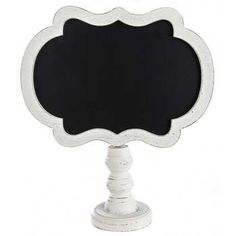 Distressed White Chalkboard on Stand