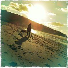 The sun setting over Sennen beach, West Cornwall. West Cornwall, Devon And Cornwall, The Beautiful South, Sunset, Beach, Travel, Outdoor, Sunsets, Outdoors