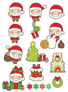 Christmas Stickers, Christmas Clipart, Christmas Cup, Christmas Crafts, Santa Claus Clipart, Clipart Noel, Illustration Noel, Baby Clip Art, Christmas Drawing