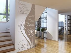 Wall banners don& dream your life Wall decal banner do not dream your life Christian Wall Decals, Wall Banner, Interior Exterior, House Painting, Pattern Wallpaper, House Colors, Wordpress Theme, Modern, Farmhouse Ideas