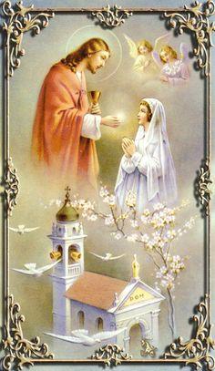 Catholic Art, Religious Art, Catholic Prayers, Jesus Mother, Blessed Mother, God Jesus, Image Jesus, Jesus Christ Images, Mother Pictures