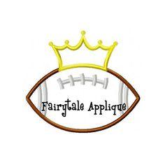 Digital Machine Embroidery Design -  Football Princess Applique on Etsy, $4.00