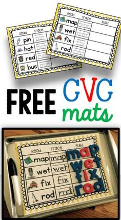 FREE CVC worksheets for kindergarten literacy centers and rotations printables laminate - easy to use - FREE CVC words a Kindergarten Centers, Kindergarten Classroom, Classroom Ideas, Kindergarten Guided Reading, Phonics Centers, Guided Reading Activities, Kindergarten Freebies, Kindergarten Language Arts, Classroom Teacher