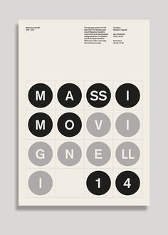 Designers Honor Massimo Vignelli With 53 Original Posters. Poster by SocioDesign Web Design, Book Design, Layout Design, Design Art, Cover Design, Typography Layout, Vintage Typography, Graphic Design Typography, Massimo Vignelli