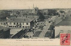 Park Street looking East from Bronson Building, Attleboro, Mass.  Found on this blog with a lot of good postcards.