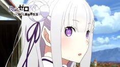 Promocyjne wideo Re: Zero Kara Hajimeru Isekai Seikatsu, premiera anime 3 kwietnia. Pink Eyes, Blue Eyes, Re Zero, Anime Screenshots, Simple Backgrounds, Another World, Light Novel, Anime Comics, Female Characters