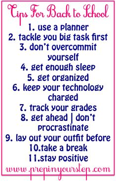 Prep In Your Step: Back To School Tips