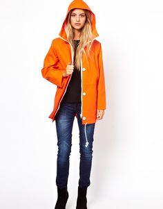 Cooper & Stollbrand I Women's Fisherman's Style Waterproof Jacket in Orange