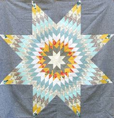 Lone Star WIP by clothwork, via Flickr Quilt Block Patterns, Pattern Blocks, Quilt Blocks, Lone Star Quilt, Star Quilts, Giant Star, Star Of Bethlehem, Traditional Quilts, Antique Quilts