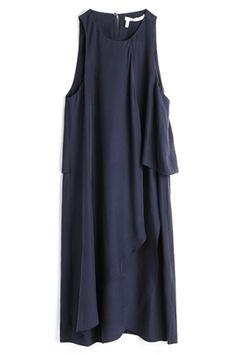 10 CROSBY DEREK LAM | SLEEVELESS FRONT DRAPE DRESS