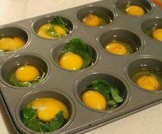Ovos e espinafres.