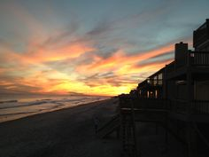 Amazing sunset on North Topsail Beach, NC