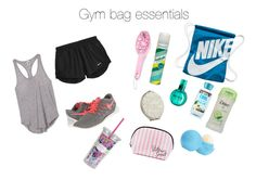 Gym bag essentials by littleartist345 on Polyvore featuring polyvore, fashion, style, Victoria's Secret PINK, NIKE, Eos, Victoria's Secret, Batiste, John Lewis, H&M and Lilly Pulitzer
