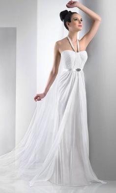 Charming Chiffon Sheath Halter Long/Floor-length Bridesmaid Dresses FSAU1409P917300 - formalsydney.com