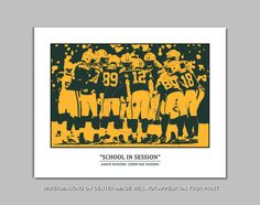 AARON RODGERS  School In Session Pop Art  Green Bay by 6StarGraphs