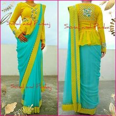 Saree Jacket Designs, Choli Blouse Design, Saree Blouse Neck Designs, Fancy Blouse Designs, Kurta Designs, Stylish Blouse Design, Designer Blouse Patterns, Stylish Sarees, Clothes For Women