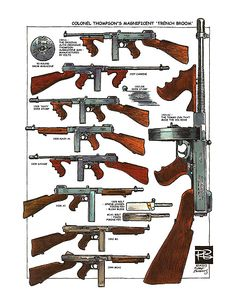Thompson submachine gun models - what every Call of Cthulhu character needs for Christmas.