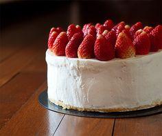 strawberry souffle cheesecake