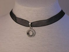 Black Ribbon Choker by CathysCraftyDesigns