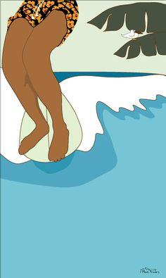 Palha surf art