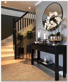 Home Interior Design .Home Interior Design Home Living Room, Living Room Designs, Living Room Decor, Hallway Inspiration, Home Decor Inspiration, Home Design Decor, House Design, Foyer Design, Cheap Home Decor