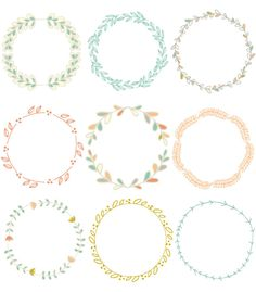 Hand Drawn Laurel Wreath Clip Art Images por FieldandFountain