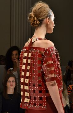 Studded Runway Look Studs And Spikes, Nice Ideas, Runway, Hardware, Textiles, Trends, Leather, Inspiration, Dresses