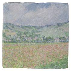 The Poppy Field near Giverny, 1885 Stone Coaster