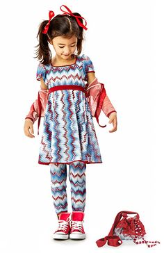 Missoni girl fashion red white blue spring-summer 2013 collection -- looks like one of my own granddaughters!