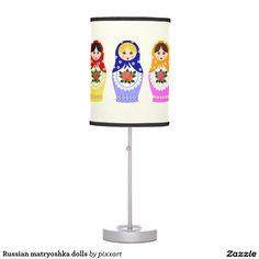 Russian matryoshka dolls desk lamp