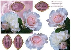outside the square pink rose on Craftsuprint - Add To Basket!