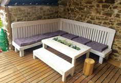 pallets patio corner couch