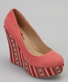 Another great find on #zulily! Coral & Orange Moon Wedge by U Love Me #zulilyfinds