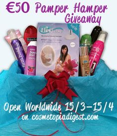 Pamper Hamper with beauty goodies worth €50 - giveaway open worldwide 15/3-15/4 2015