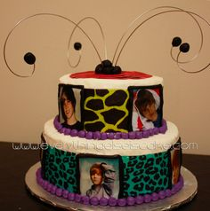 I really appreciate the wide variety of patterns on this cake - see on the top too? And that cake topper is just great.