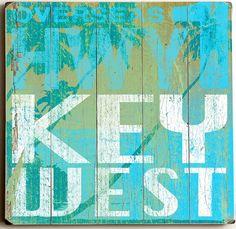Highway Key West Custom Sign: Beach Decor, Coastal Decor, Nautical Decor, Tropical Decor, Luxury Beach Cottage Decor
