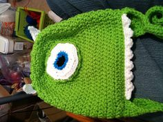 """Mike"" from Monster's Inc - earflap hat"