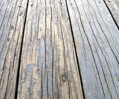 How to Fix a Deck That Is Peeling : Chipped and peeling paint on your beautiful wooden deck? No problem! Here is an easy fix. What you will need: Clean clothGarden pump sprayerScraperScrub brush… Cool Deck, Diy Deck, Painted Wood Deck, Wood Deck Stain, Best Deck Stain, Stain Concrete, Stamped Concrete, Concrete Patio, Cement
