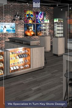 We create custom store designs at stock fixture pricing. We take your store floor plan, design a full color store rendering like the pin images. Then quote and manufacturer your unique store, it's easy! Drop us a email and we will get in contact with you. Visit our dedicated sites: bolddisplaycbd.com bolddisplayvape.com #storedesign #retailstoredesign #Vapestoredesign #instoredesign #storelayout #retailstoreinterior #wellnessstoredesign #storefixturedisplays Vape Store Design, Retail Store Design, Store Layout, Plan Design, Pin Image, Liquor Cabinet, Floor Plans, Quote, Drop