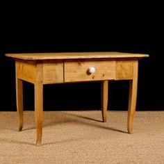 Antique European Pine Table, c. 1825 Antique Pine Furniture, Antique Tables, Pine Table, Asian, Center Table, Storage Drawers, Entryway Tables, Antiques, Home Decor