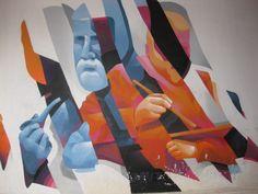 Murale dedicato al pittore Gaetano Previati , Ferrara : volto dell'Ostello di corso Biagio Rossetti ; realizzato dallo street-artist Mendez ,a settembre 2015  ; patrocinato dal Comune e dall'Ostello.