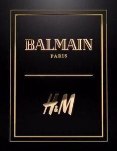H&M et Balmain annoncent leur future collaboration Balmain Collection, Olivier Rousteing, Art Of Love, Balmain Paris, Modern Outfits, Logo Design, Design Art, Fashion Designers, Business Cards