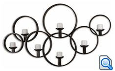 This Decorative Wall Candle-holder Is Made Of Hand Forged Metal With A Rustic Black Finish. Included Are Seven Distressed Ivory Candles.Dimensions: x x Materials Used: IRON, CANDLEArtist: Carolyn Kinder Metal Walls, Metal Wall Art, Iron Wall, Candle Sconces, Wall Sconces, Forging Metal, Metal Candle Holders, Votive Holder, Black Walls
