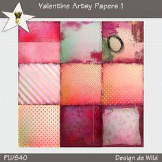 Valentine Artsy Papers 1 | Designs de Wild