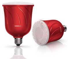 Pulse LED Soundlampe von JBL und Sengled in Rot
