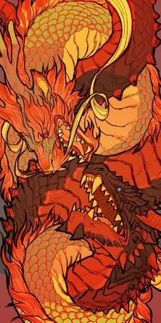 Element Is Your Inner Dragon? Fire-drakes or Uruloki are a type of Dragon in Middle-earth. They are very…Fire-drakes or Uruloki are a type of Dragon in Middle-earth. Fantasy Dragon, Dragon Art, Fantasy Art, Fire Dragon, Mythological Creatures, Mythical Creatures, Posca Art, Creature Design, Japanese Art